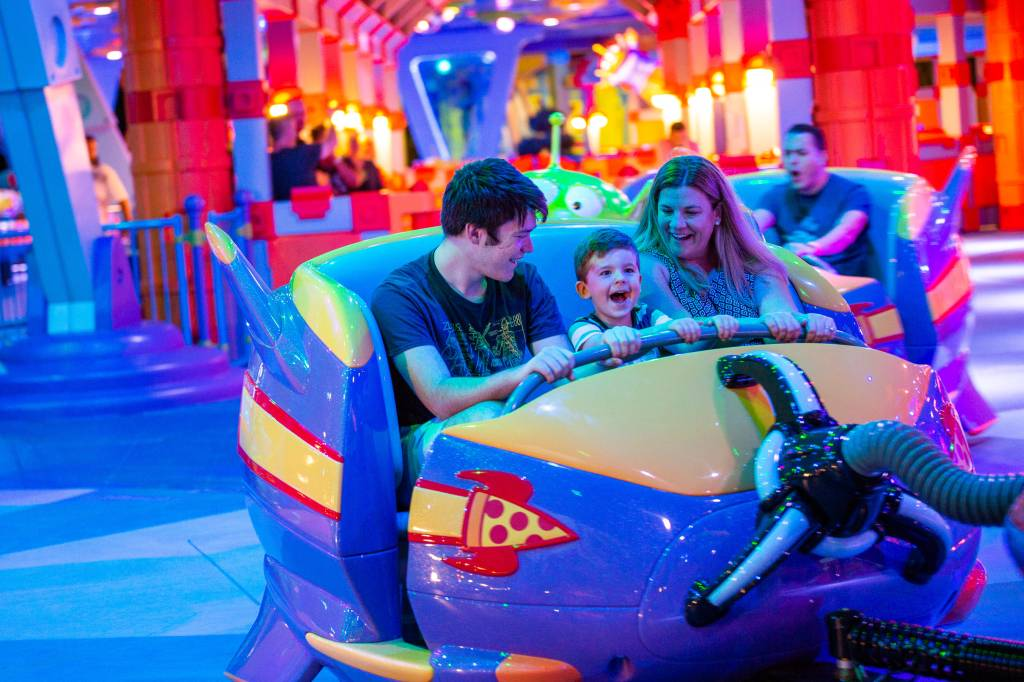 Alien Swirling Saucers no Toy Story Land, Orlando