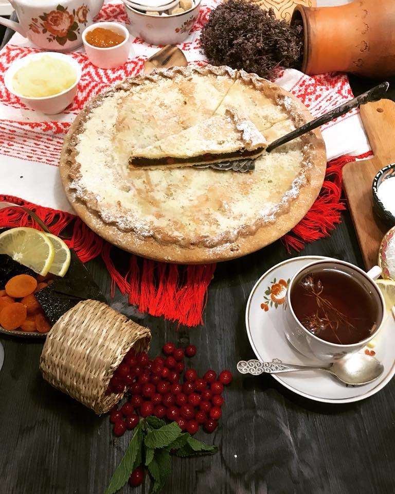 Prato tártaro do restaurante Tatarskaya Usadba
