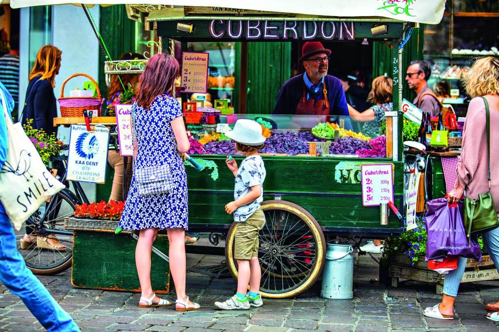 Cuberdon, doce típico de Ghent, Bélgica