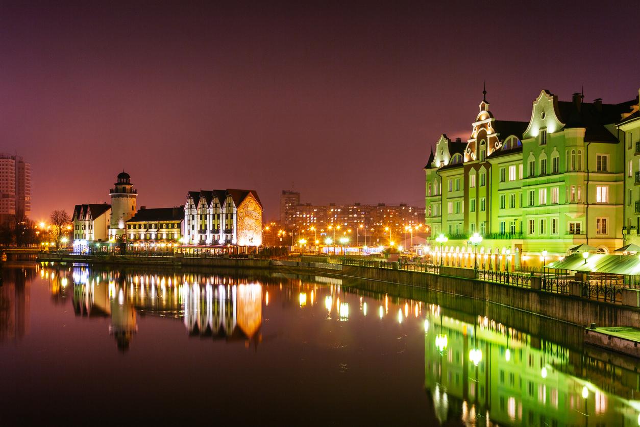Kaliningrado á noite