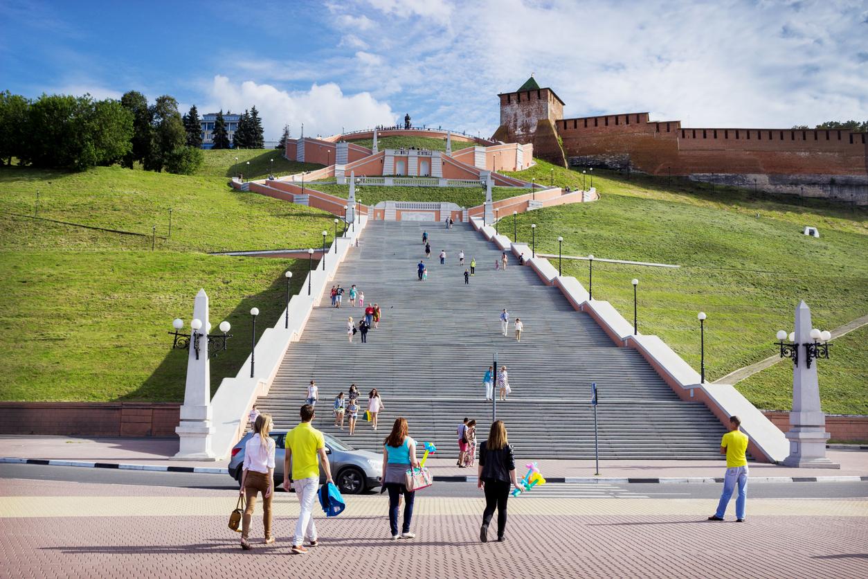 Escadaria Chkalov, Nizhny Novgorod