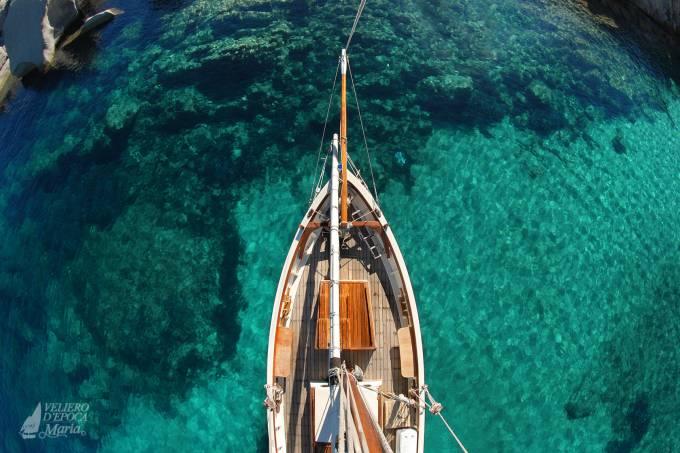 Veliero d'Epoca Maria, Arquipélago Maddalena, Sardenha, Itália