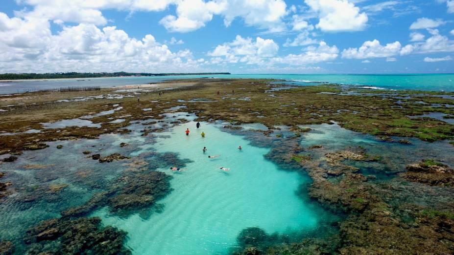 Piscinas naturais de Pratagi, uma das mais belas praias de Maceió