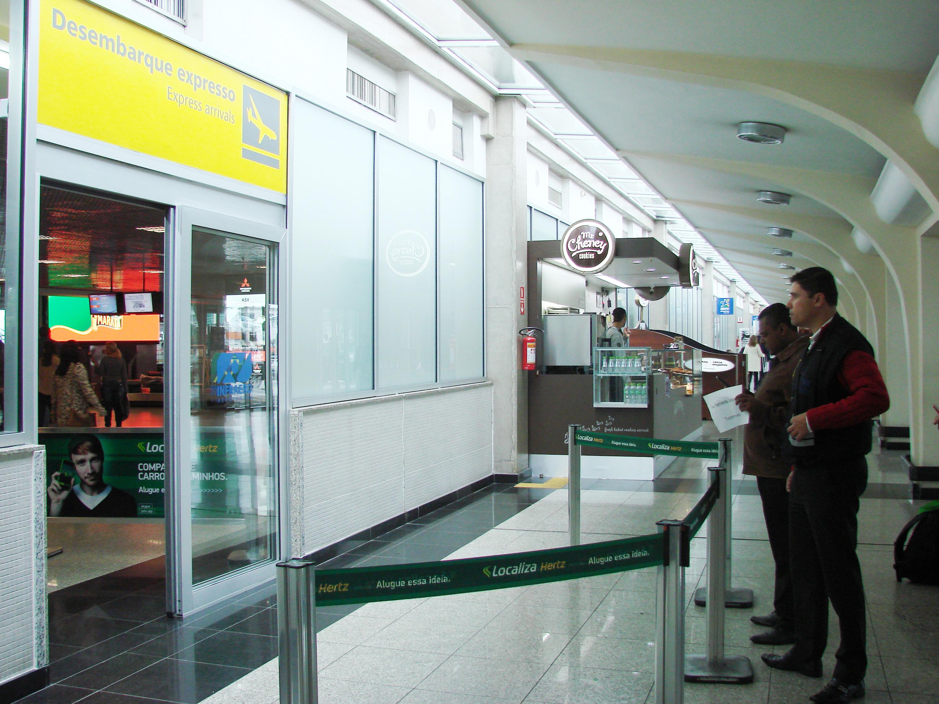 Desembarque Expresso, Aeroporto de Congonhas