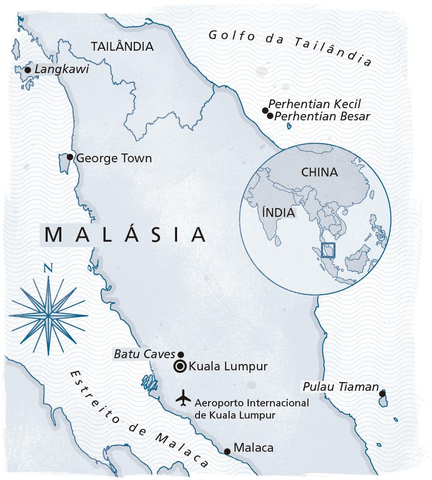 Malásia Serviço mapa