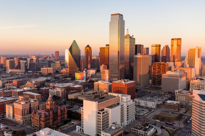 Skyline de Dallas, no Texas