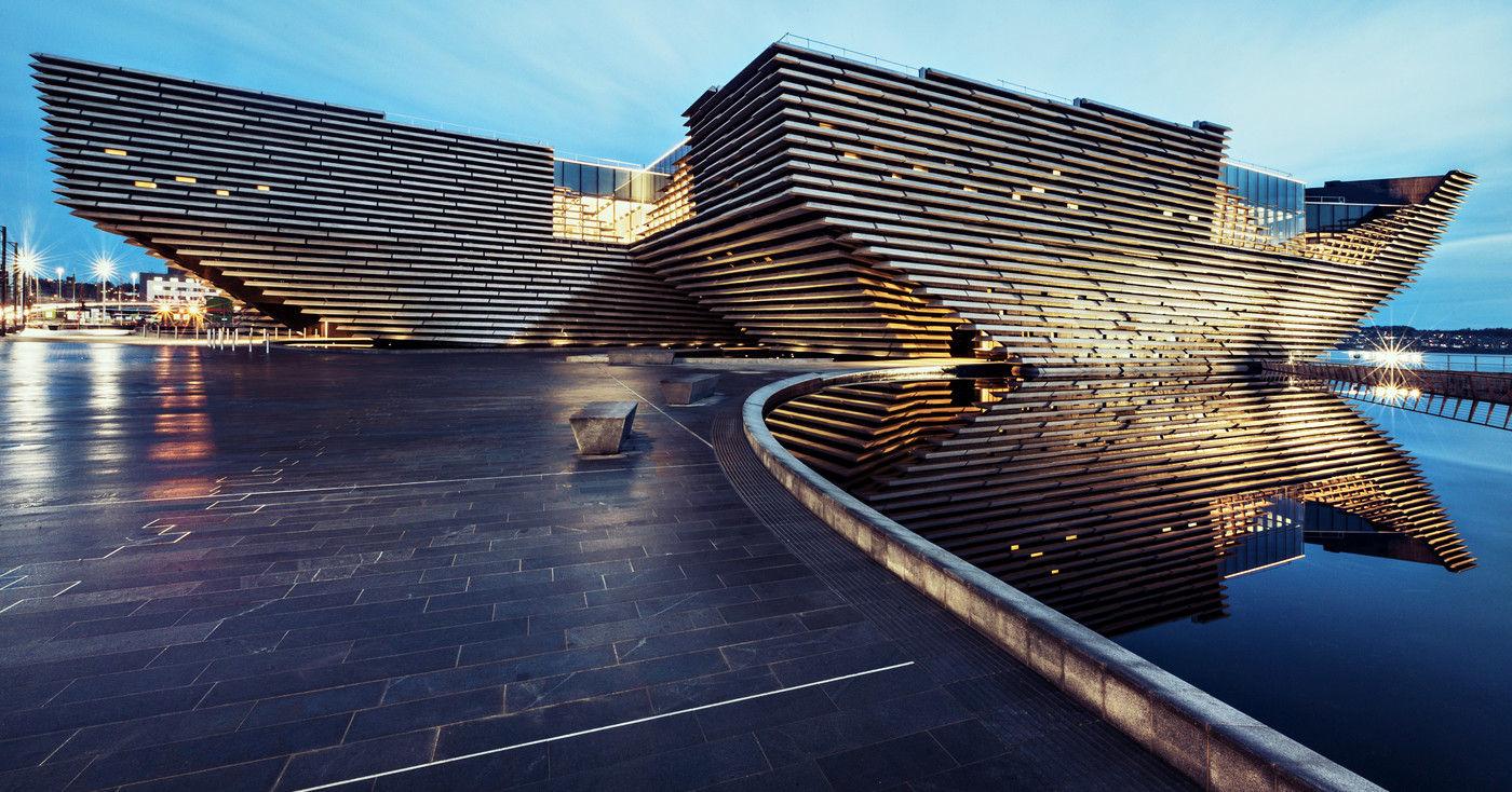 A fachada inspirada nos penhascos escoceses do Victoria & Albert Museum of Design