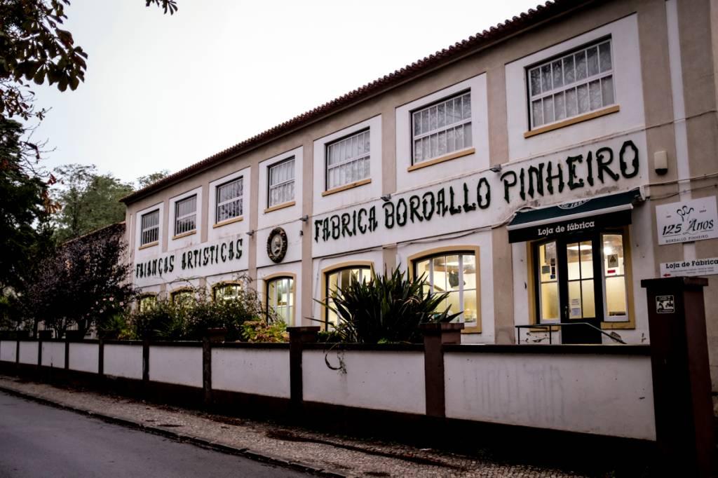 A entrada da loja da fábrica: desde 1884