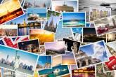Colagem de cartões postais