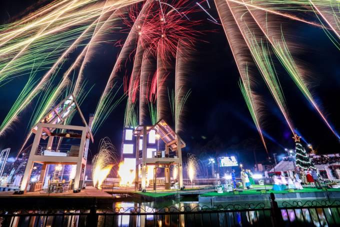 Fogos de artifício em Gramado