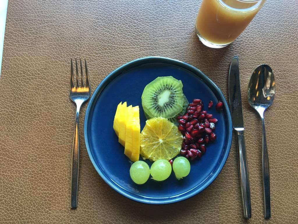 Detalhe do café da manhã do hotel