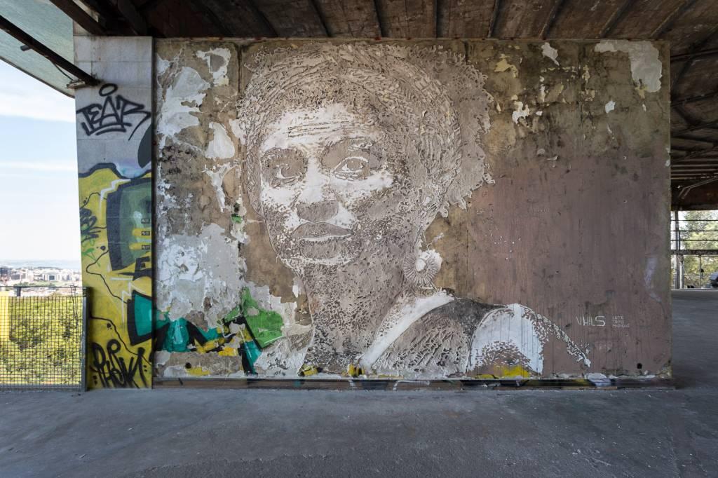#mariellepresente: A mais recente obra de Vhils em Lisboa nos fala diretamente à alma