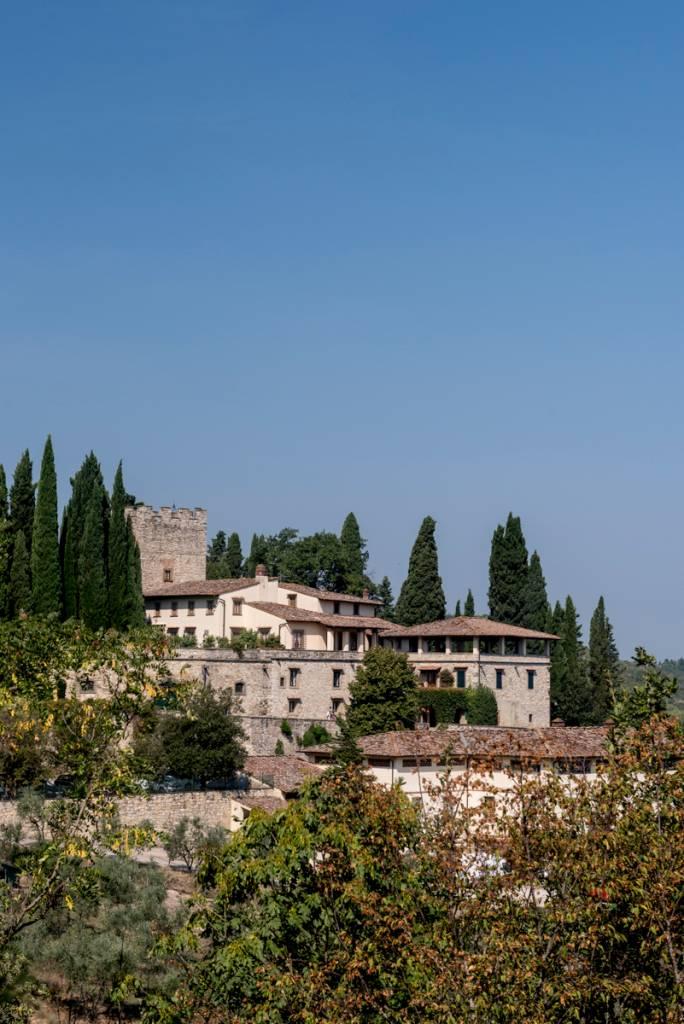 O Castello di Verrazzano, nos arredores de Greve in Chianti: primeira parada