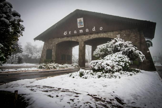 O inverno e as boas-vindas em Gramado