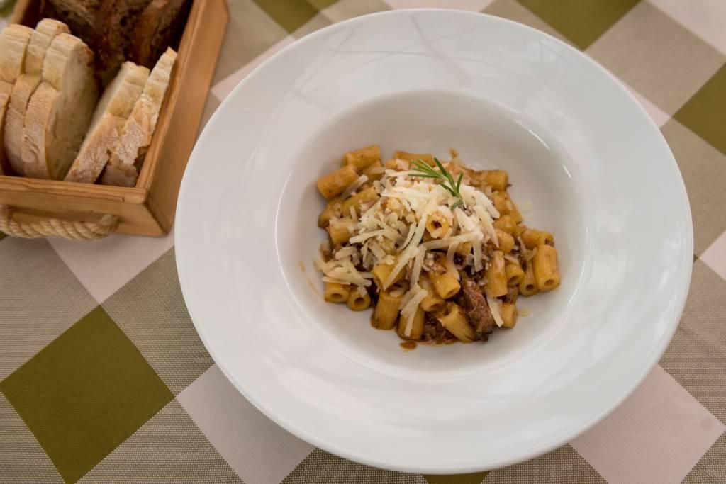 Massa com ragu de coelho no Restaurante Rinuccio 1180: belo almoço