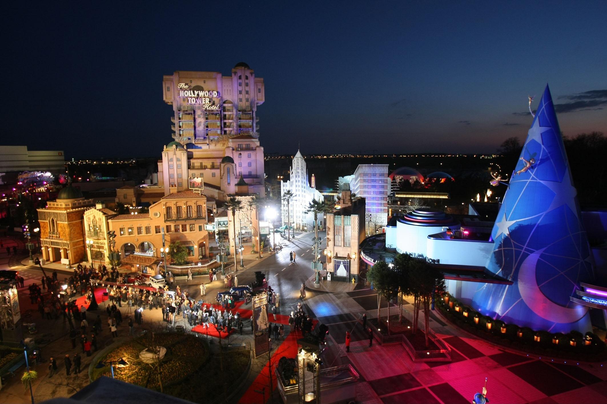Vista aérea do Disney Hollywood Studios