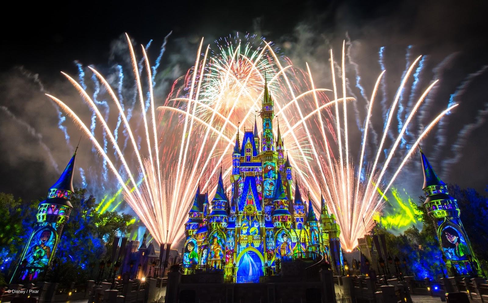 Show de fogos de artifício no Magic Kingdom