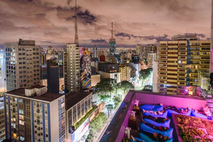 Vista do mirante do Sesc Avenida Paulista