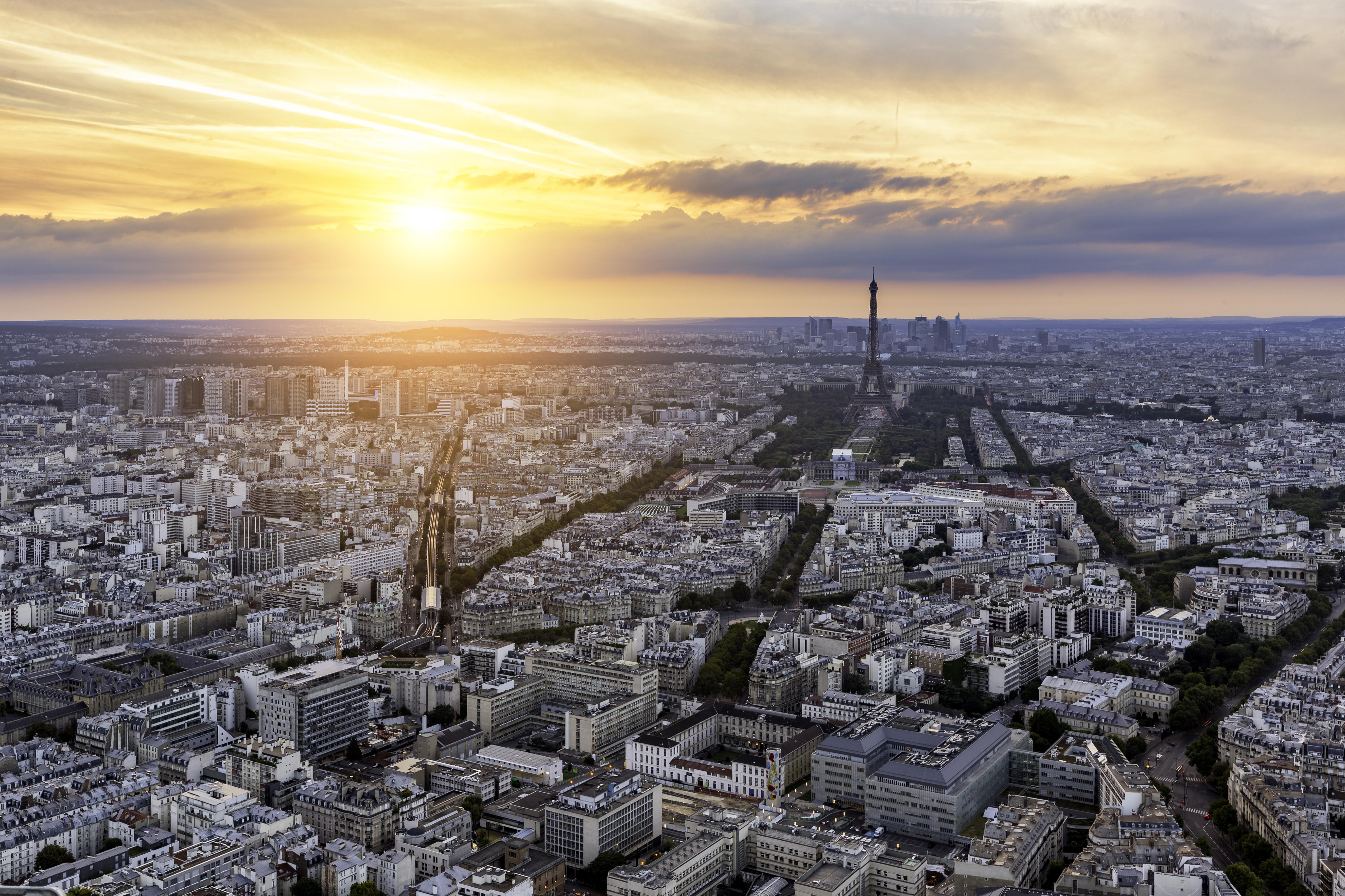Vista da Torre Montparnasse, a mais alta da cidade
