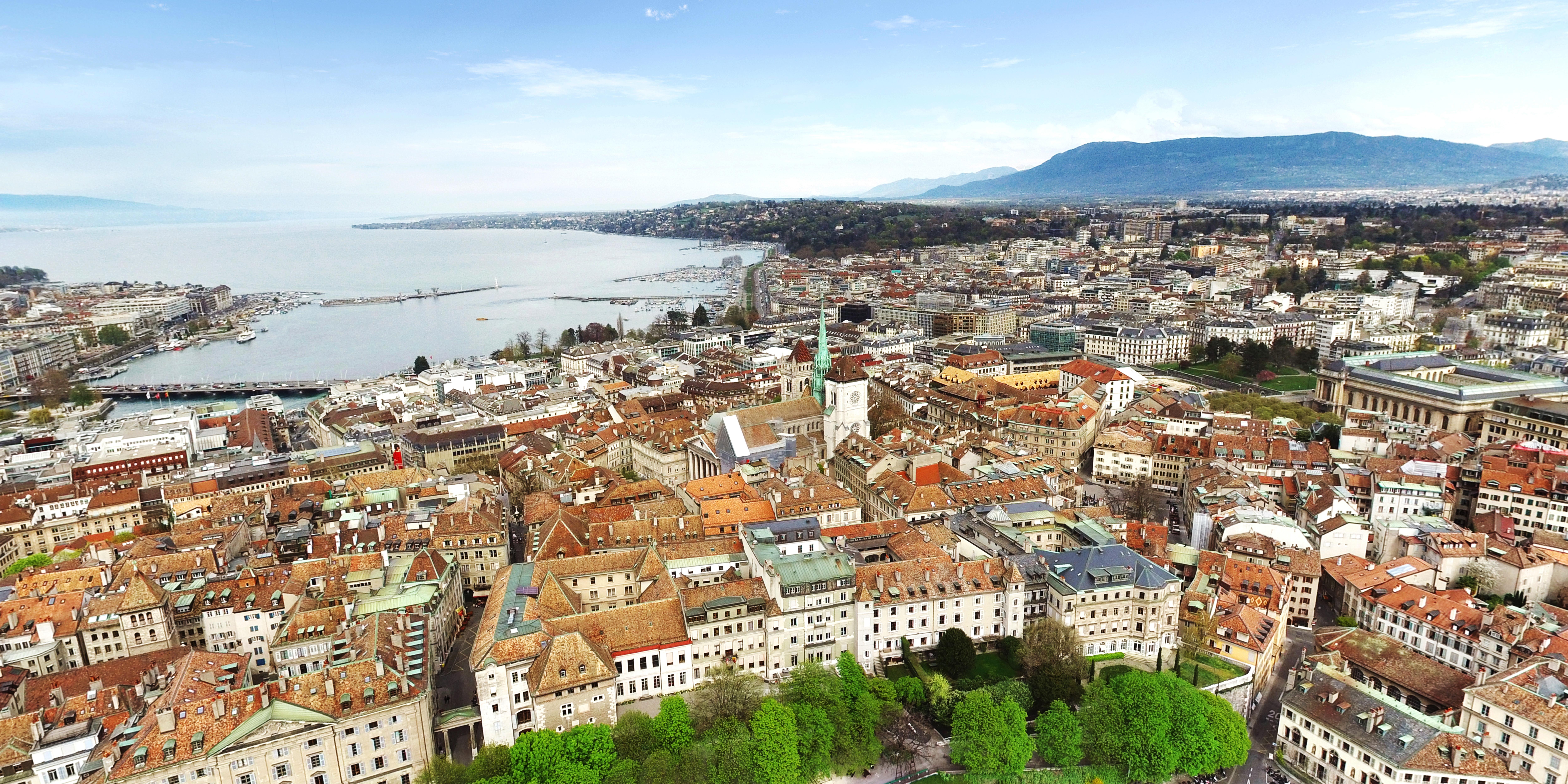 Vista aérea de Genebra