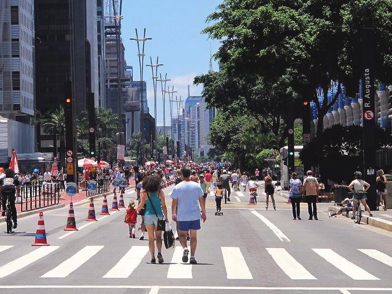 Avenida Paulista aberta para pedestres