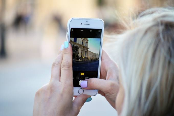 Turista, celular, Itália