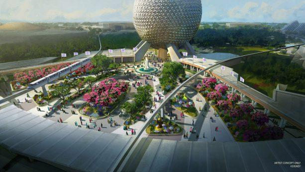 Projeto da nova entrada do parque Epcot