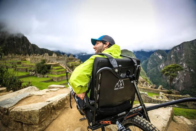 Cadeirante em Machu Picchu, Peru