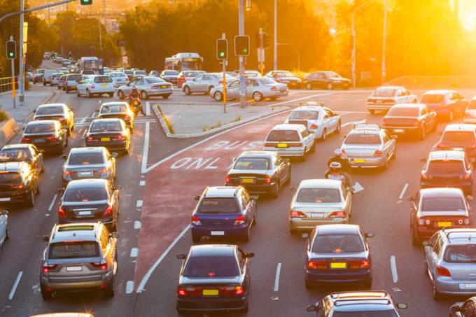 Congestionamento no trânsito