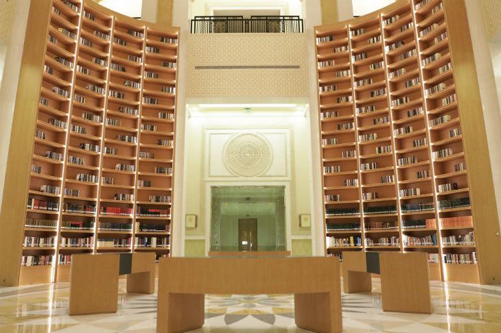 Biblioteca do Qasr Al Watan, Abu Dhabi, Emirados Árabes Unidos