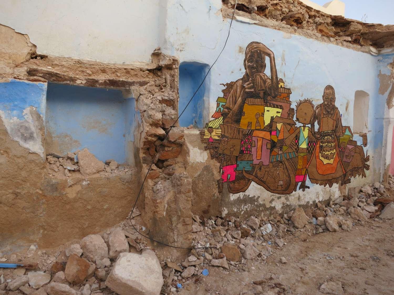Obra de Swoon na Tunísia