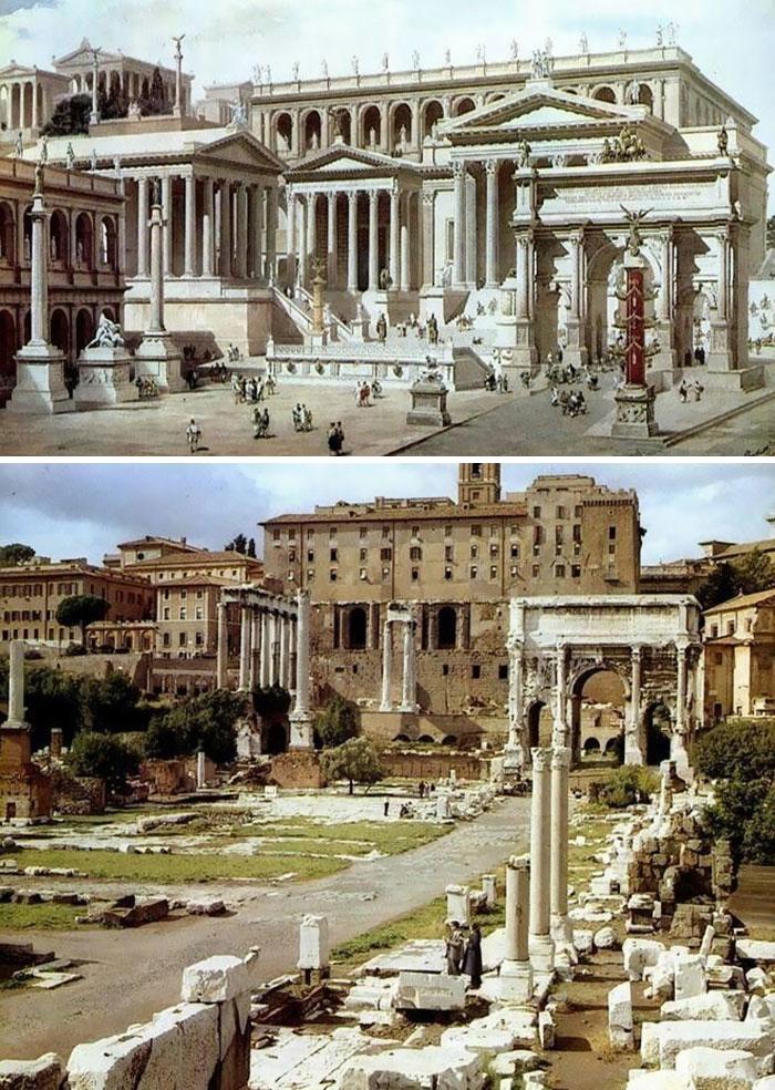 Reconstrução por imagem do Fórum Romano