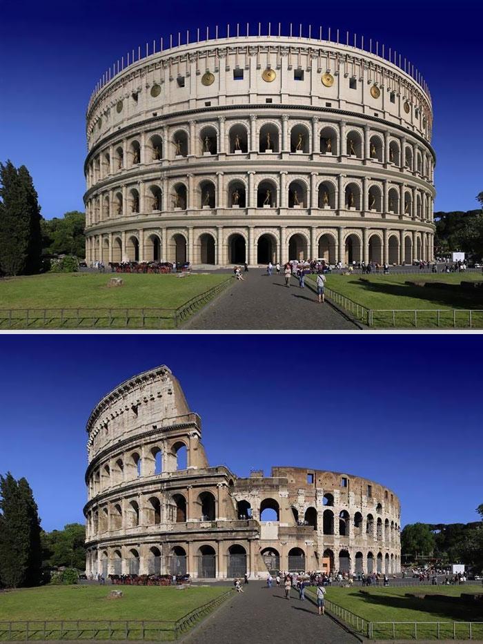Reconstrução por imagem do Coliseu, Roma