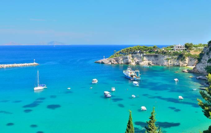Marina de Alonissos, no arquipélago das Espórades, na Grécia