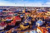 Vista aérea de Helsinki, capital da Finlândia