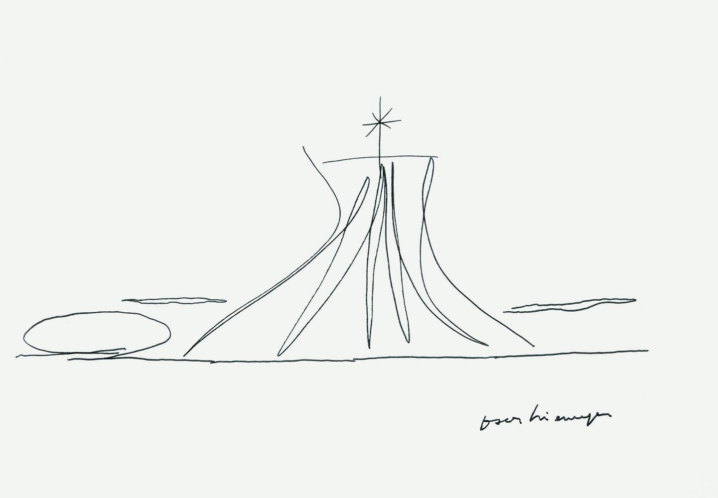 Desenho Oscar Niemeyer