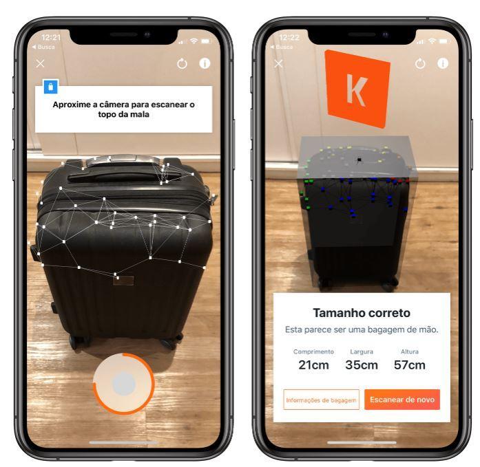 Print da tela do aplicativo Kayak