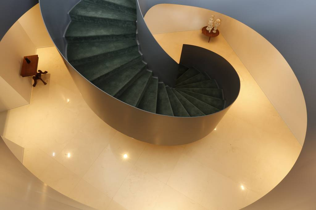 Escada de acesso para o Palácio no Hotel Montebelo Vista Alegre