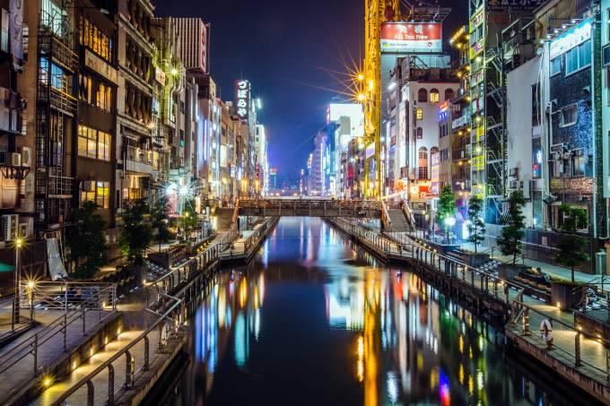 Canal de Dotonbori, Osaka, Japão
