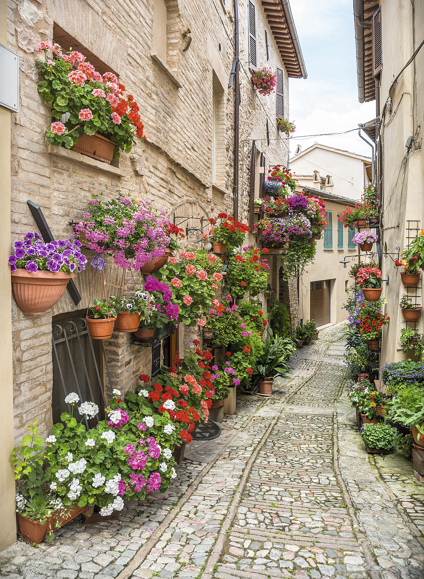 Casario de Spello, Úmbria, Itália