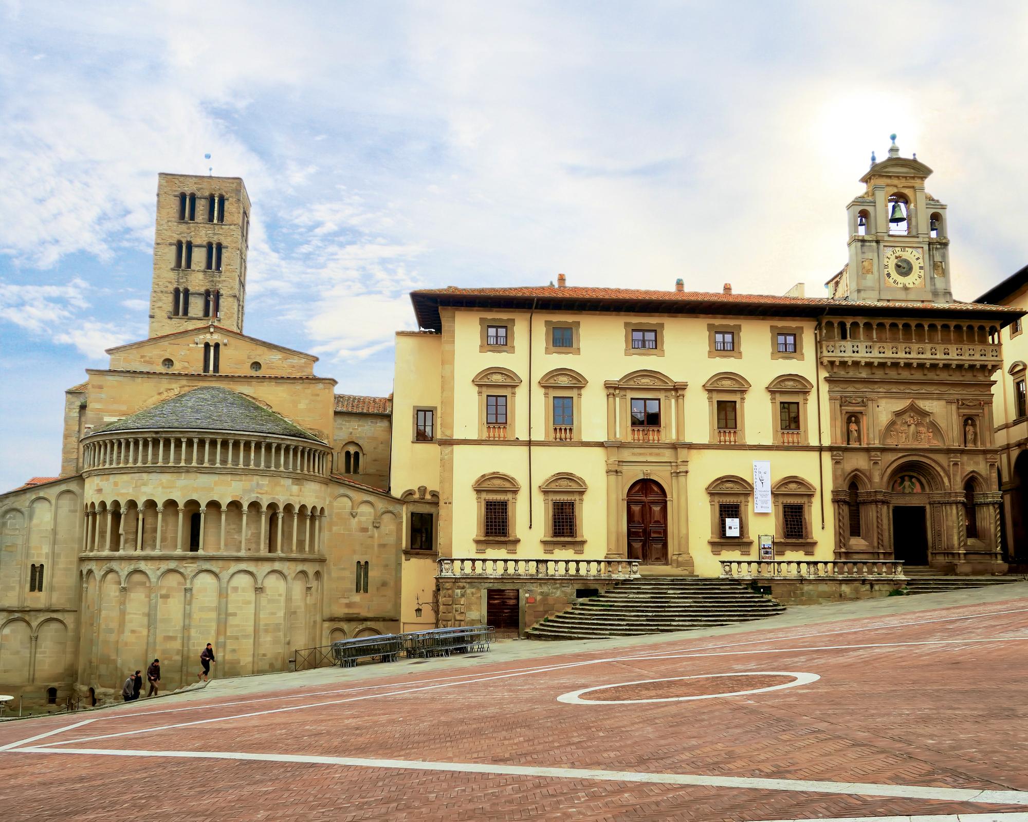 A Piazza Grande, em Arezzo
