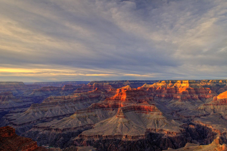Pôr do Sol no Grand Canyon é um show à parte