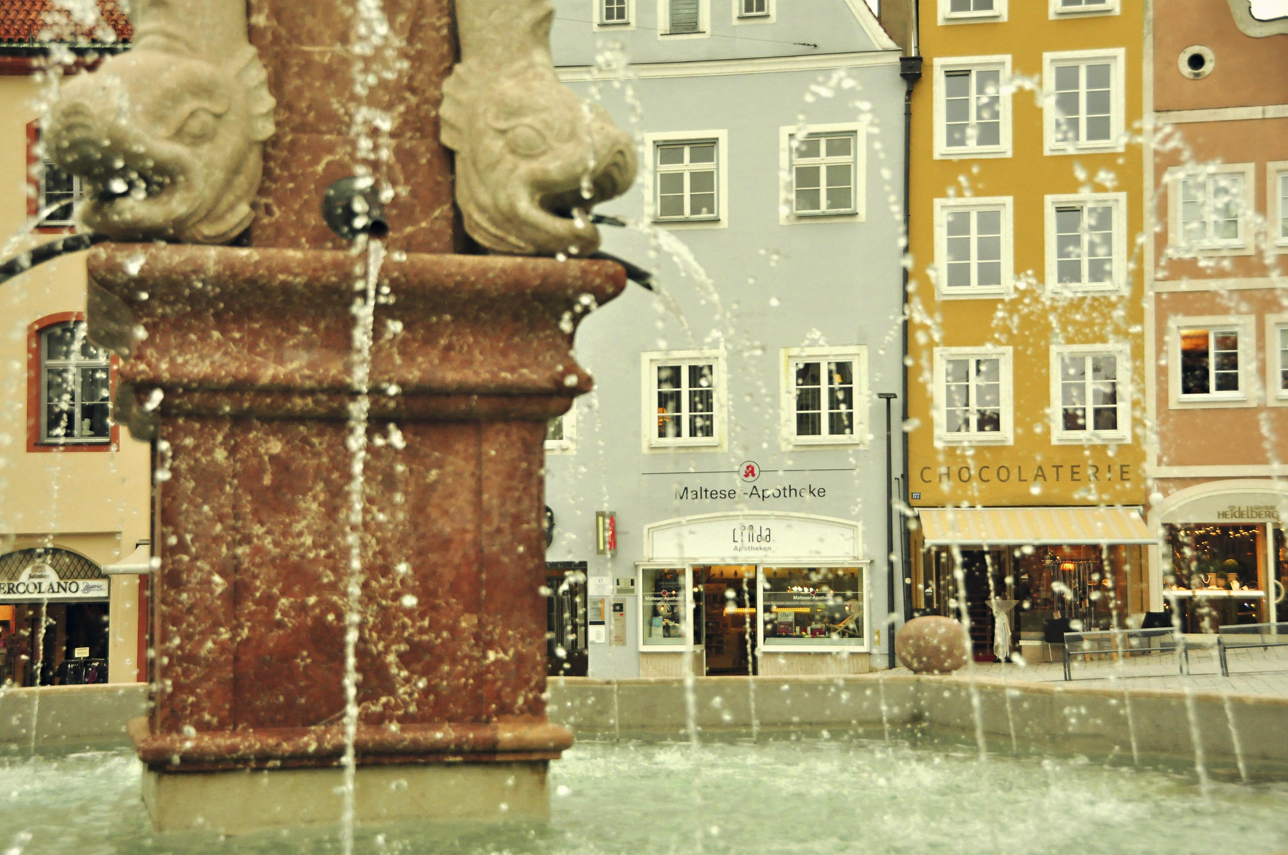 Praça Haupplatz, Landsberg, Alemanhaam Lech