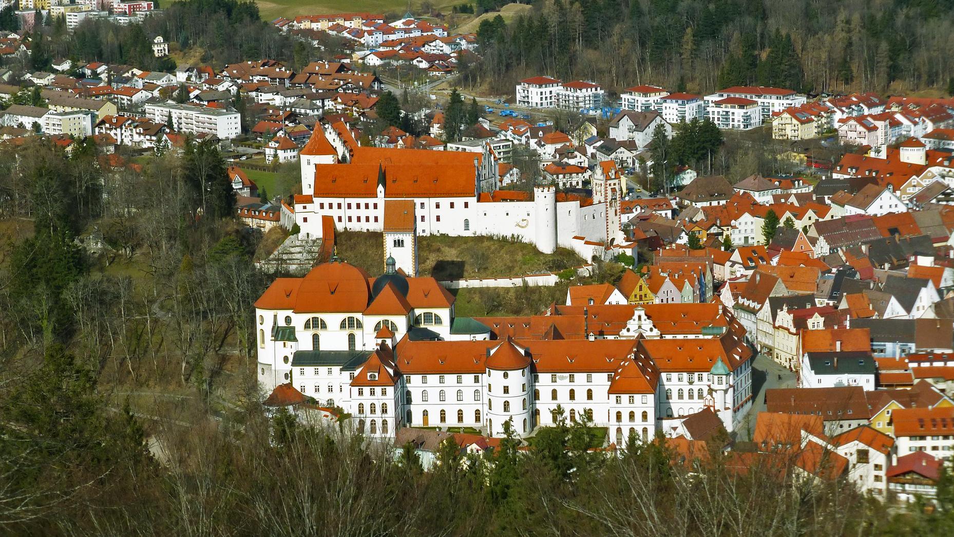 Vista aérea de Füssen, Alemanha