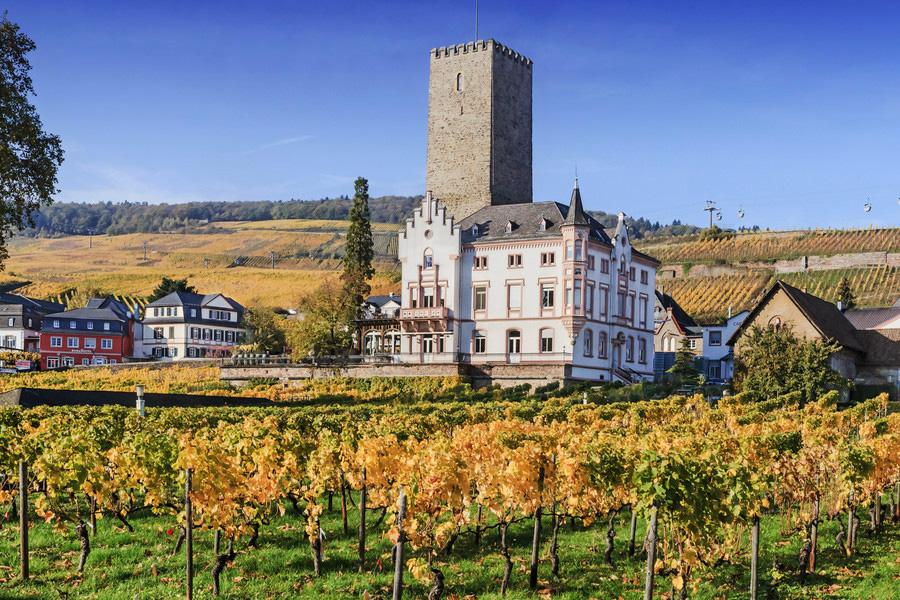 Boosenburg ou Oberburg Castle, Rüdesheim am Rhein, Alemanha