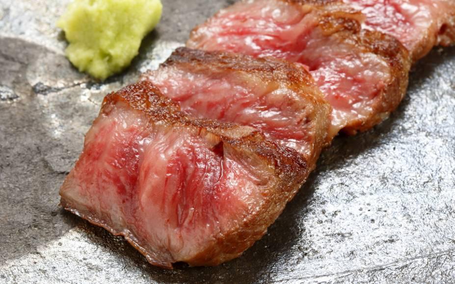 Prato do restaurante Teppanyaki Kobe, que fica dentro do Hotel Monterrey