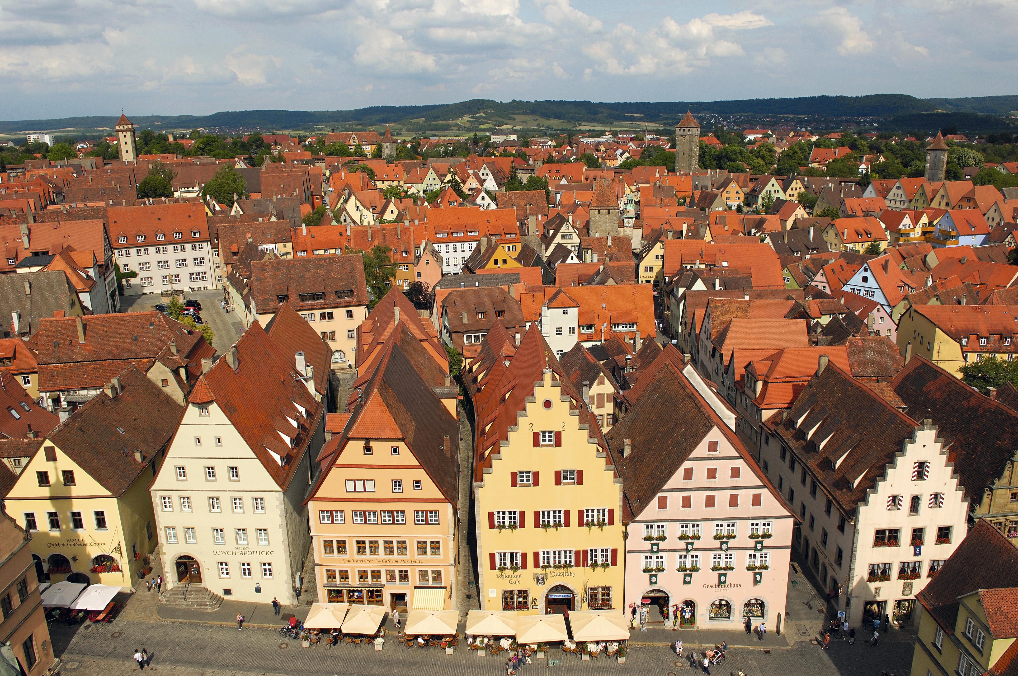 Vista de Rothenburg ob der Tauber, Alemanha