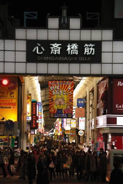 O Shopping Shinsaibashi-suji é o maior do gênero no país, com 600 metros de extensão