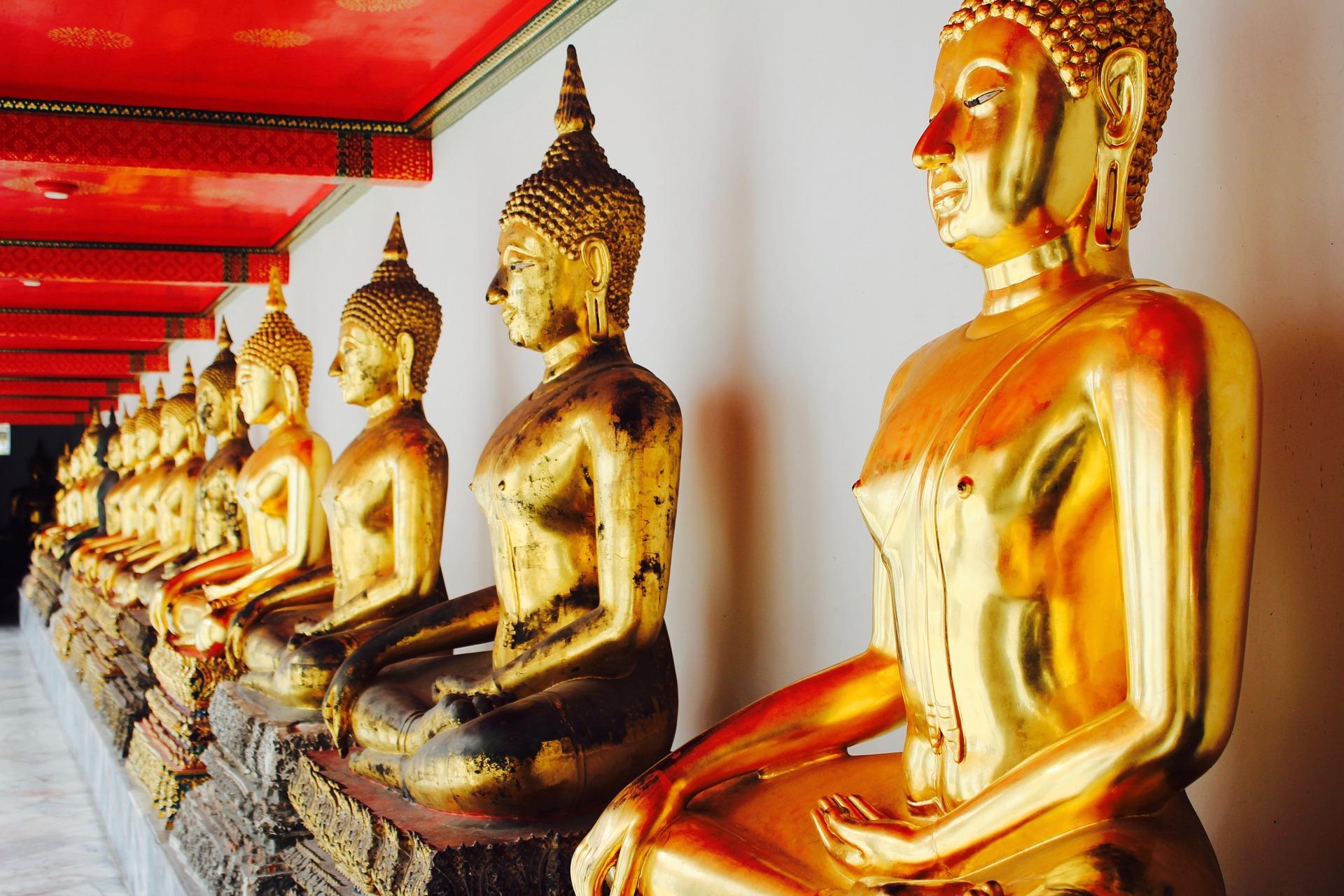 Budas dourados em Bangkok