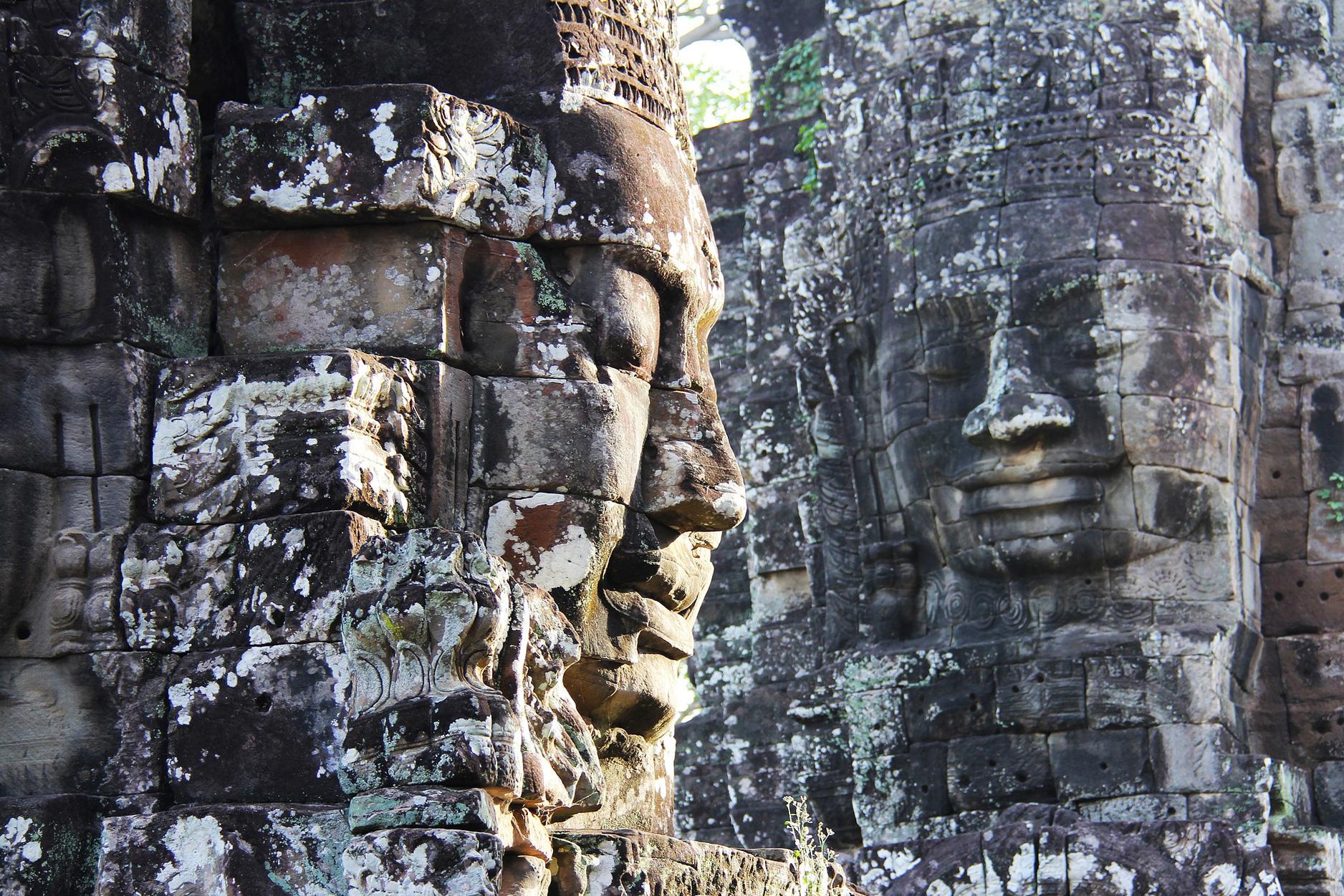 Templo de Bayon, em Siem Reap